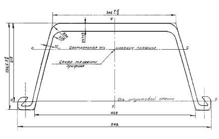 геометрические размеры шпунта Л5УМ