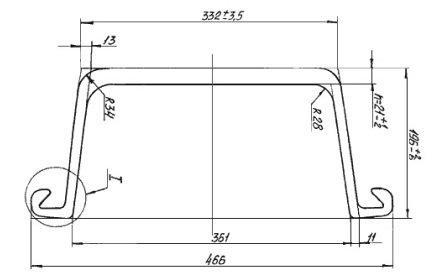 геометрические размеры шпунта Л5